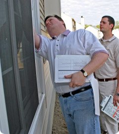 Man conducting a property inspection